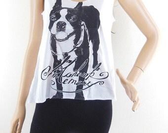 Dog Shirt dog Tank Top Dog tshirt teen top funny tees hipster tops bloger tee trendy shirt fashion tee Women Tshirt Women Tank Top Size S