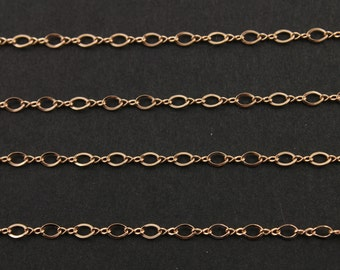 14k ROSE GOLD Filled Figure 8 chain, figure 8 Links, 3x2 mm, Priced & sold by the Foot (RGF-2538B1F-K)(05)