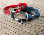 Casual anchor bracelet - Nautical paracord bracelet - Marstrand in Stainless steel - Waterproof