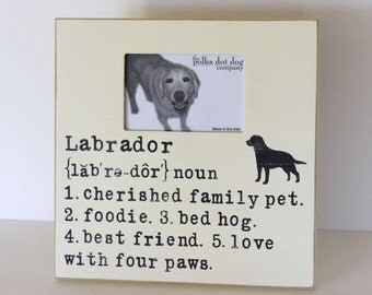 labrador, labrador picture frame, breed specific gift, dog picture frame