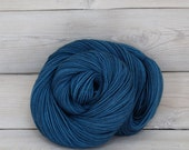 Orion - Hand Dyed Superwash Merino Wool Sport Yarn - Colorway: Marine