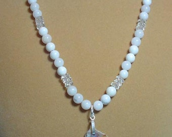 """22"""" necklace of Mother Nature's beauty in stones and crystals! - N059"""