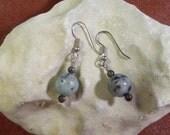 Sesame Jasper and Blue Labradorite Earrings