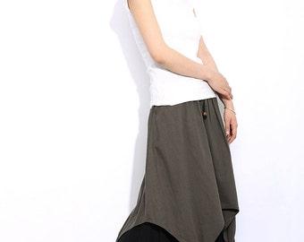 Linen skirt women skirt long skirt C315