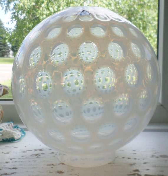 Vintage Fenton Coin Dot Shade Gone With The Wind Globe