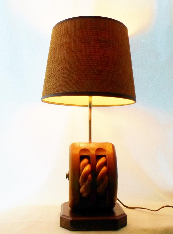 Nautical Lamp Ship Pulley Lighting Desk Table