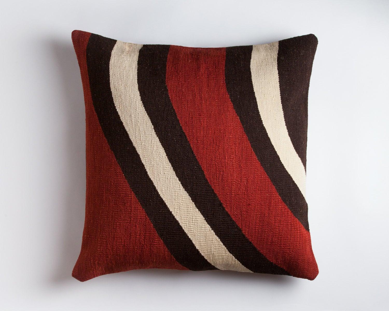 contemporary kilim floor pillow handwoven wool brooklyn