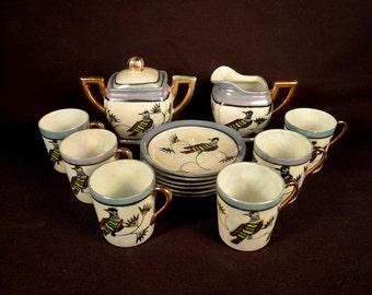 Childrens Teaset Kids Teaset Childs Tea Set 1930s Antique