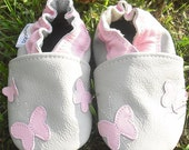 soft sole baby shoes handmade infant gift butterfly pink gray 0 6 ebooba 47-1