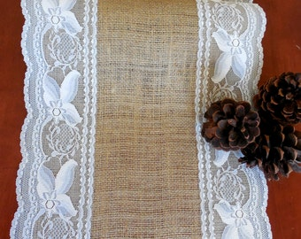 Burlap table runner wedding table runner rustic wedding decor rustic party bridal shower