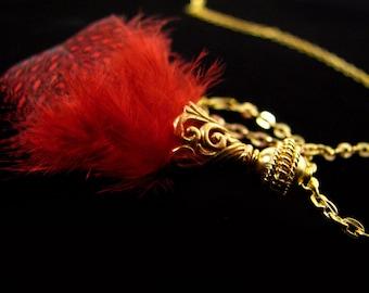 SALE Gold Vermeil Bead 2 pcs Elegant Coiled 8.5 mm B201