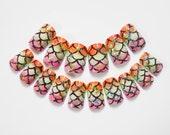 Kawaii Mermaid Fake Nails, False Nails, Acrylic Nails, Press on, Nails, Mermaid, Pastel, Glitter, Pretty, Mermaid Nails, Scale