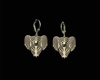 Chinese Crested earrings - Gold
