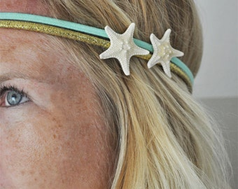 SALE - Starfish Headband- 3 - Beach Headband - Mermaid Hair - Boho Headband - Starfish Hair Accessories - beach hair - surf hair
