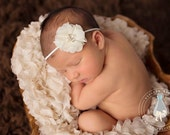 Ivory Baby Headband, Baptism Headband, Baby Headband, Newborn Headbands, Christening Headbands, Headbands Babies, Headbands Baby, Headband