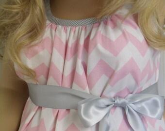 Pink Chevron maternity hospital delivery nursing breastfeeding dress