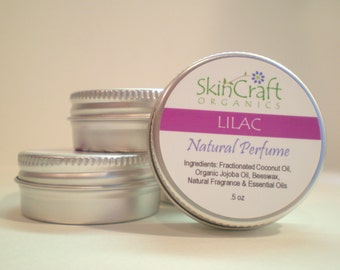 Natural Lilac Perfume - Solid Perfume -  Natural Local Beeswax  .5 oz Tin