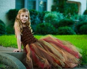 Dark autumn colored full length tutu skirt.