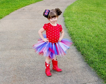 Red, white and blue tutu. 4th of July.