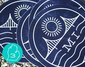 Michigan Vinyl Sticker 3-Pack