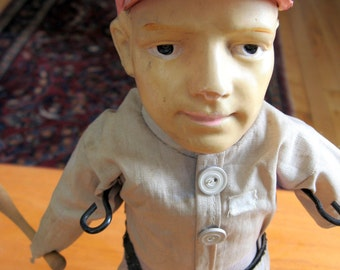 SALE Vintage 1900s Babe Ruth Baseball Doll.