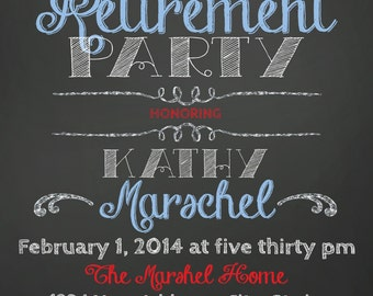 ON SALE Retirement Party Invitation
