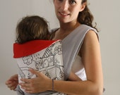 mei tai / BABY CARRIER / baby carrier /sling for mothers and fathers  baby carrier red black white