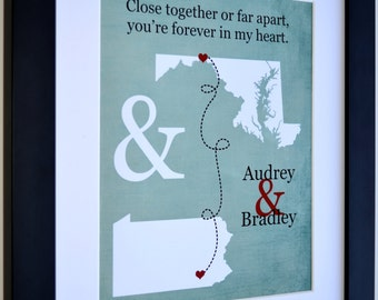 Boyfriend long distance gift long distance relationship gift for girlfriend boyfriend anniversary gift valentines day gift idea for her him