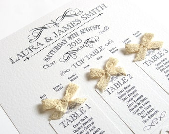 Rustic Wedding Table Plan A2