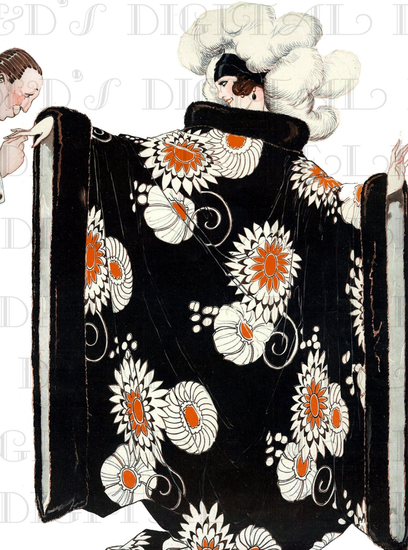 elegant superlative art deco robe vintage flapper french. Black Bedroom Furniture Sets. Home Design Ideas
