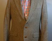 1980's Man in Wool Sports Blazer Mans Suit Jacket