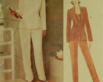 """Jacket & Pants by Montana - 1990's - Vogue Paris Original Pattern 1885   Size 6-8-10  Bust 30.5-31.5-32.5"""""""