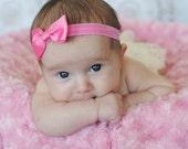 U CHOOSE color Mini Hair Bow, hairbow 4 baby, toddler girls. Grosgrain headband