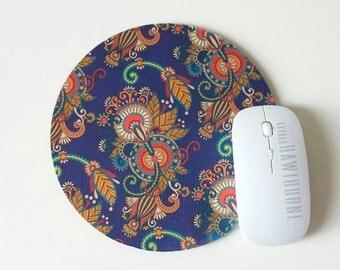 Mouse Pad, Paisley Mousepad, Bohemian Mouse Pad