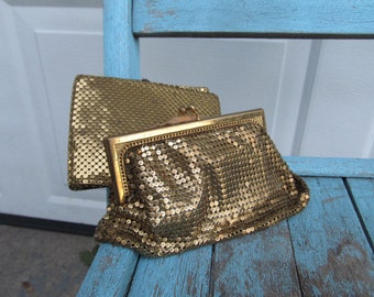 Genuine Whiting and Davis coin purse and wallet set