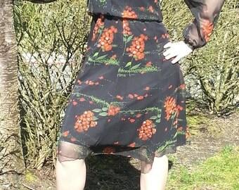 Orange Blossom Sheer Dress
