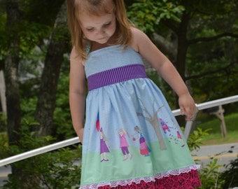 "RTS Hadley's ""Celebration"" Halter dress, size 5"