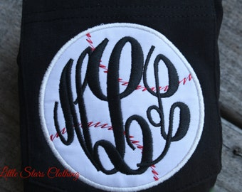 MONOGRAMMED Baseball Pocket Tees-Perfect for Cheering on your Lil' Slugger
