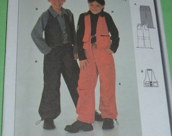 Burda 9952 CHildrens Pants and Vest  Sewing Pattern CHildrens Pants and Vest  Sewing Pattern - UNCUT - Size 4 - 10