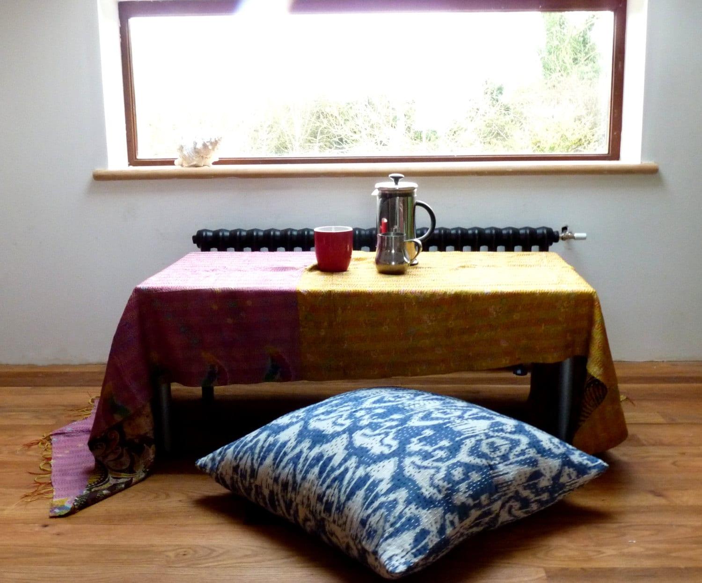 Etsy Large Floor Pillows : Blue Ikat Floor Pillow // 24 x 24 // Large Floor Cushion