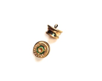Handmade genuine bullet shank buttons brass clothing upcycle button steampunk heavy metal military gothic