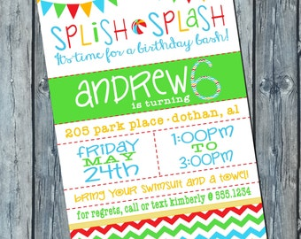 Pool Party Birthday Invitation | Pool Party Invitation | Beach Party | Digital Invitation