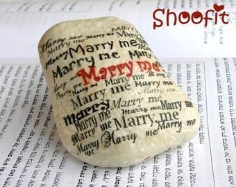 Wedding proposal,Marry me, Marry me stone,engagement,Jerusalem stone,Love stone,art stone,stone on shelf, stone gift, stone decoration,