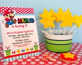 Super Mario Inspired Birthday Party - DIY PRINTABLE Invitation Card - H3a