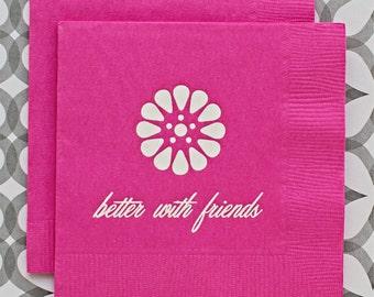 BN1213 - better with friends beverage napkin, 40 ct