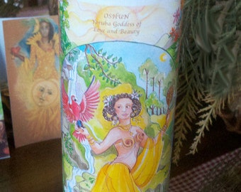 Oshun,Ritual, Altar,  Voodoo, Hoodoo, Fixed Candle, Novena, Loaded, Pagan, Wiccan
