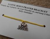 I Love Jesus Prayer Bracelet - Choose your Color