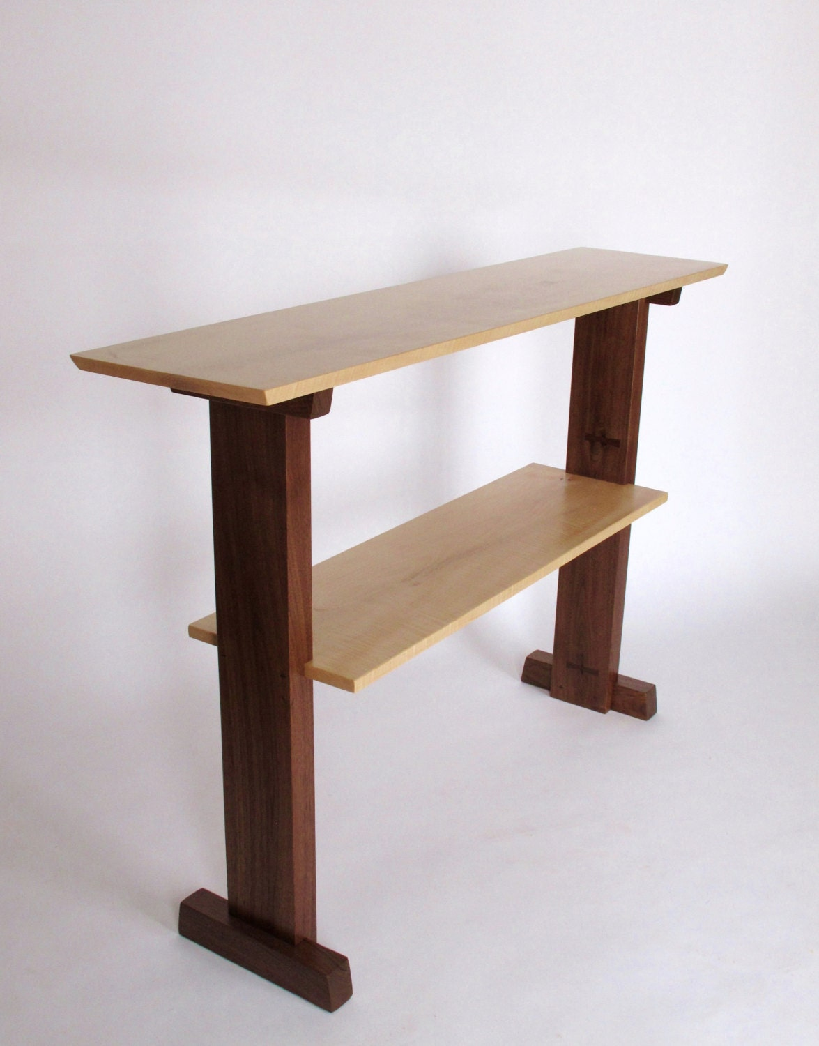 Standing desk narrow table console table for narrow hallway Wooden hallway furniture
