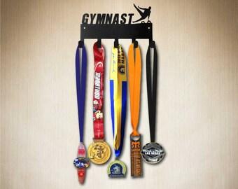 Award Holder - Gymnast Medal Hanger, Medal Holder by SportHooks , Medal Rack, Medal Hooks  gear etc. Larger size available.
