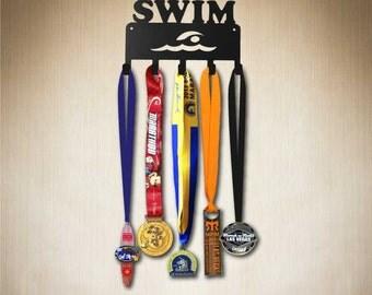 Medal Holder Swimmer Medal Display, Medal holder,  Medal Hanger,larger 10 hook size available. sporthooks.com